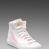 adidas by Stella McCartney Sneaker in Running White/Grey Feather/Turbo from REVOLVEclothing.com