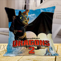 How To Train Your Dragon  on Square Pillow Cover