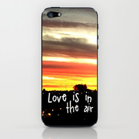Love is in the air iPhone & iPod Skin by Louise Machado