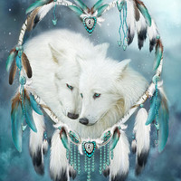 Heart Of A Wolf Mixed Media by Carol Cavalaris - Heart Of A Wolf Fine Art Prints and Posters for Sale