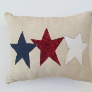 Fourth of July Pillow, Patriotic Pillow, Star Pillow