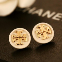 Tory Burch New fashion women earring accessories White