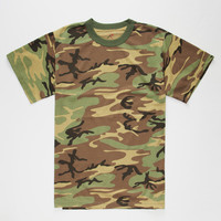 Rothco Woodland Camo Mens T-Shirt Camo  In Sizes