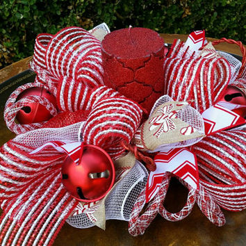 Christmas Centerpiece Christmas Table Top Centerpiece Christmas Jingle Bell Centerpiece Christmas Party Christmas Centerpiece Christmas Mesh