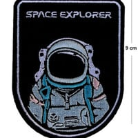 Space Explorer Iron / Sew On Embroidered Patch Badge Astronaut Embroidery Motif | eBay