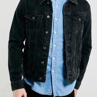 WASHED BLACK DENIM WESTERN JACKET - New This Week - New In