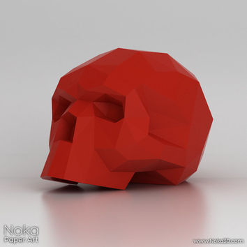 Human Skull - 3D papercraft model. Downloadable DIY template