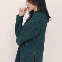 Zip It Good Mock Neck Sweater $74