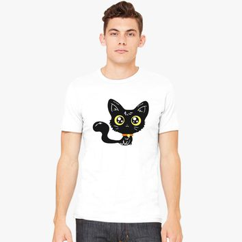 Adorable Black Cat Men's T-shirt | Customon.com