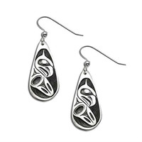Northwest Coast Jewelry - Tsimshian Eagle Sterling Silver Earrings