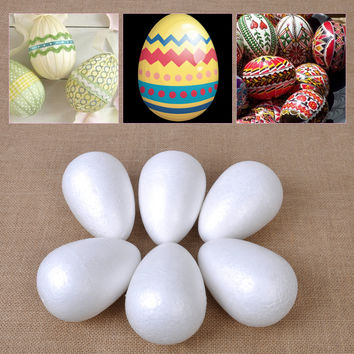 White Styrofoam Eggs for Easter DIY Craft