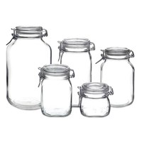 Bormioli Rocco Fido Hermetic 5-Piece Jar Set