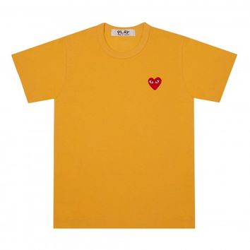 Play Colour Series T-Shirt Red Heart (Yellow)