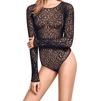 Wolford Lee Black String Bodysuit