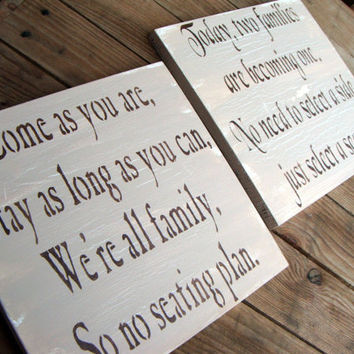 Rustic Wedding Seating Plan sign set for Ceremony and Reception
