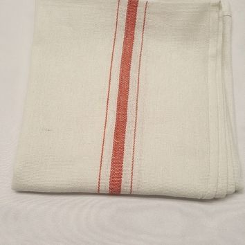 "Red Stripe Kitchen Towel - 20"" x 20"" - CASE OF 120"