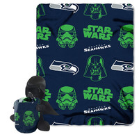 Seattle Seahawks NFL Star Wars Darth Vader Hugger & Fleece Blanket Throw Set
