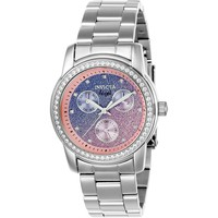 Invicta Women's 23821 Angel Quartz Chronograph Light Blue, Pink Dial Watch