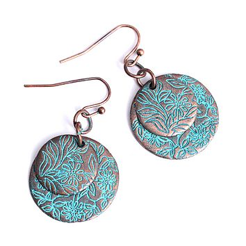 Antique Bohemian Style Round Drop Earrings