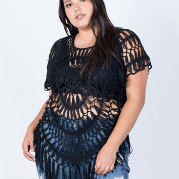Plus Size Breezy Crochet Top
