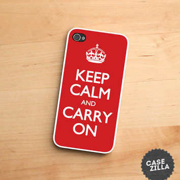 iPhone 5 Case Keep Calm and Carry On RED crown iPhone 5S Case, iPhone 4/4S Case, iPhone 5C Case