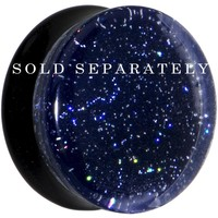"7/8"" Black Neon Glitter Saddle Plug"