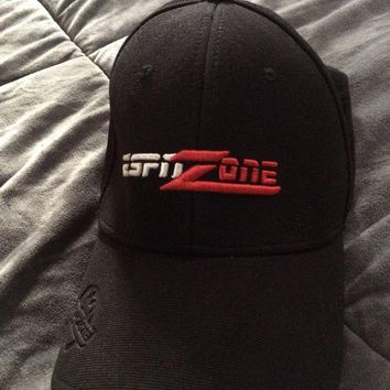 DCK4S2 Men's Black ESPN Zone New York Red White Logo Baseball Hat Cap