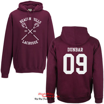 Unisex Beacon Hills Lacrosse Fleece Hoodie Teen Wolf Fan Stilinski Lahey McCall Hoody Sweatshirt S-3XL