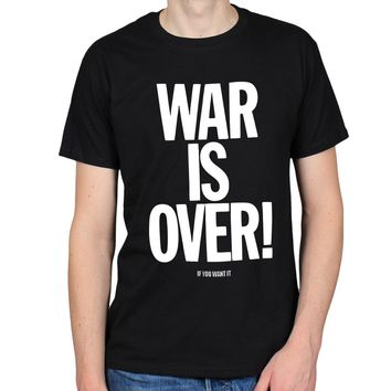 WAR IS OVER IF YOU WANT IT 60S PEACE LOVE HIPPY FLOWER POWER MENS T-SHIRT TEE Top Tee for Sale Natural Cotton T Shirts