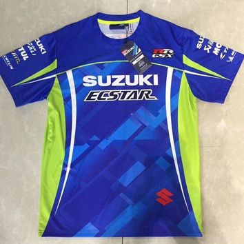 Free Shipping 2018 MOTO GP for SUZUKI GSX GSXR Motorcycle Riding Team Sports T-shirt