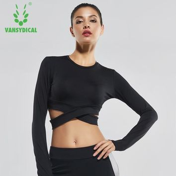 Sexy Exposed navel Yoga T-shirts