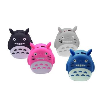 cute power bank 12000mAh portable LED totoro power bank cartoon universal external battery case charger For iPhone 6s Xiao mi