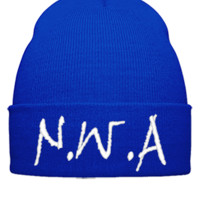 NWA DESIGN EMBROIDERY HAT - Beanie Cuffed Knit Cap