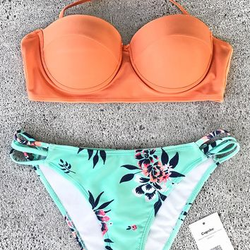 Cupshe Shining Gloriously Print Bikini Set