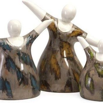 Familia Mexican Pottery Statuaries - Set of 3