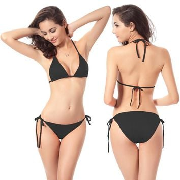 Maxmessy One Size Summer Sexy Women Bikinis Beach Bikini Set Bandage Ladies Swimsuit Bathing Suit Bikinis Set Thongs Swimwear