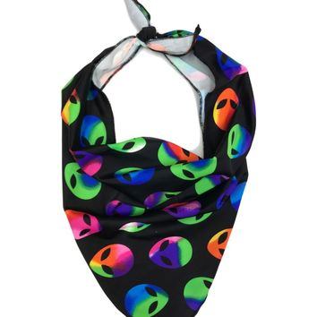 Alien Print Triangle Face Bandana Mask