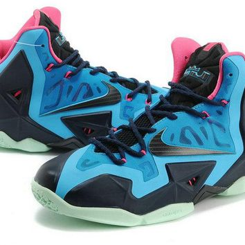 Purchase 2018 LeBron 11 Game Blue Turquoise Black Armory Slate Brand sneaker