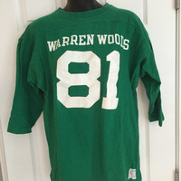 Vintage 1970s Champion Blue Bar football jersey Warren Woods