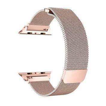 Stainless Steel Mesh Milanese Loop for Apple Watch Band 40/38mm, Adjustable Magnetic Closure Replacement iWatch Band for Apple Watch Series 4 3 2 1 (40/38mm Rose Gold)