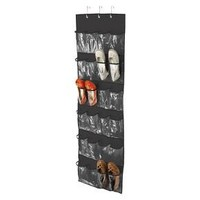 Honey-Can-Do Over The Door Clear Shoe Organizer and Storage Rack - Black