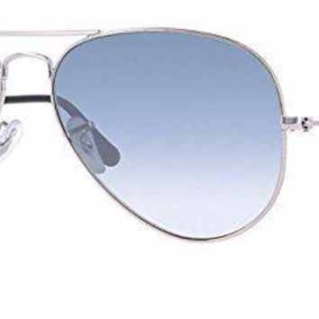 Cheap Ray-Ban RB3025 003/3F 55mm Silver / Crystal Gradient Light Blue Made in Italy outlet