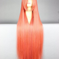 100 Cm Harajuku Anime Cosplay Wigs Young Girl Long Straight Synthetic Hair Wig