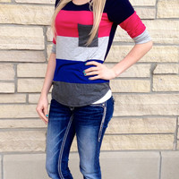 Beauty Queen Color Block Top