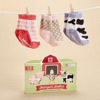 "Baby Aspen ""Barnyard Booties"" Farm Fun Socks for Baby"