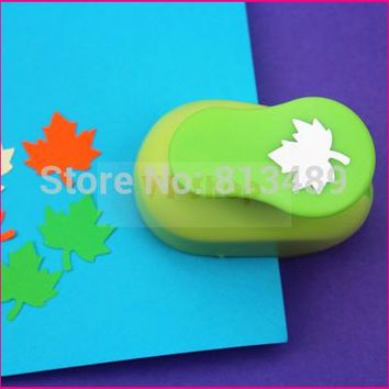 free ship maple leaf eva foam punch child diy craft punch scrapbook paper cutter scrapbooking punches Embosser  S2937-3