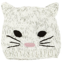 Cat Face Beanie - Multi