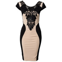 Lace Eyelash Bodycon Dress