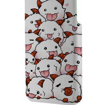 Best 3D Full Wrap Phone Case - Hard (PC) Cover with White League of Legends POROS Design