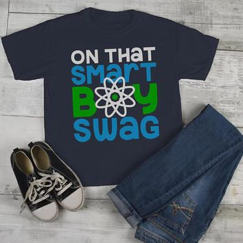 Boy's Funny T shirt Back To School Tee Smart Boy Swag Science Shirts Cute Boys